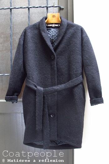 Manteau mohair noir Coatpeople