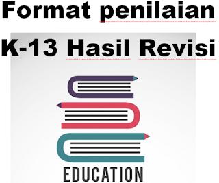 Format penilaian K13 Hasil Revisi Sesuai Kemdikbud