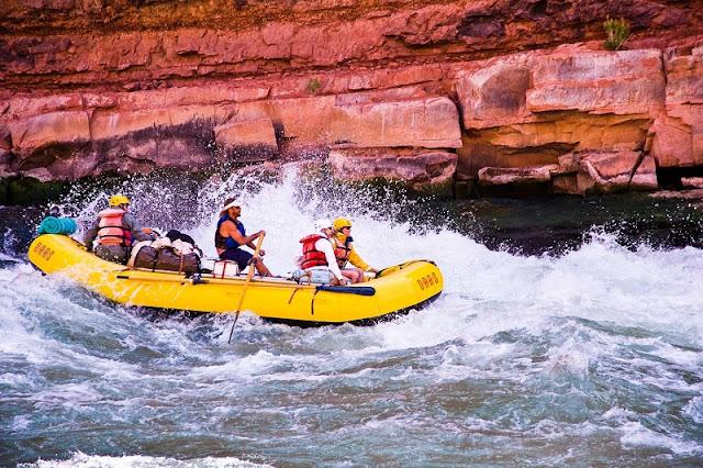 Rafting com criança no Grand Canyon
