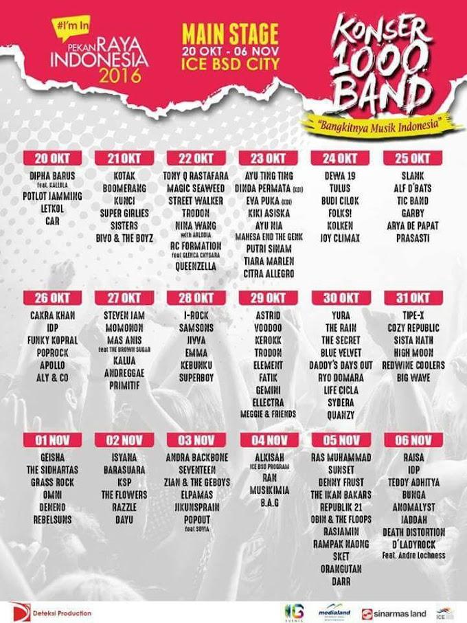 Jadwal Konser di Pekan Raya Indonesia 2016