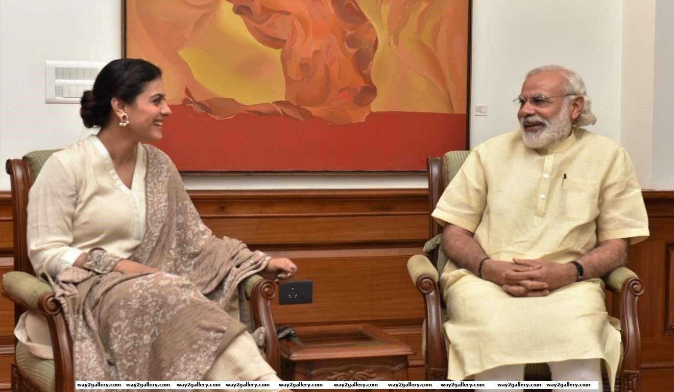 Kajol called on Prime Minister Narendra Modi in New Delhi