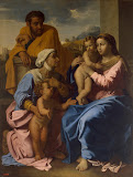 Holy Family with St Elizabeth and John the Baptist by Nicolas Poussin - Religious Paintings from Hermitage Museum