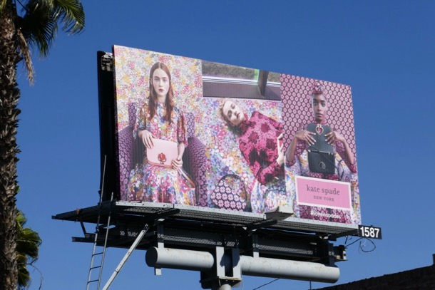 Kate Spade Love in Spades Spring 2019 billboard
