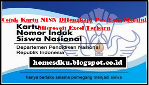 Cetak Kartu NISN DIlengkapi Pas Foto Melalui Microsoft Excel Terbaru