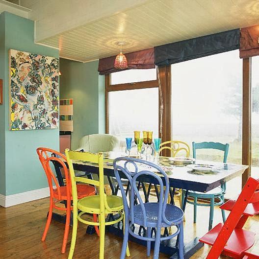 Comedores coloridos colores en casa for Comedor 2 colores