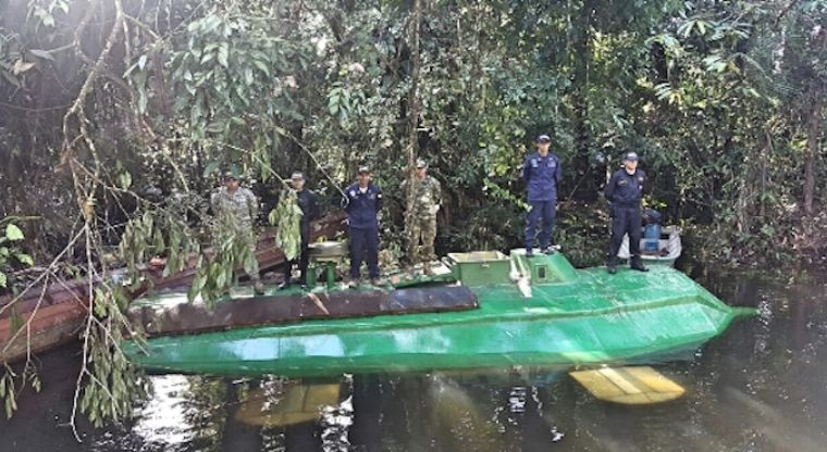 Vídeo: Incautan el primer submarino eléctrico con valor de 1.5 mdd usado para transportar cocaína
