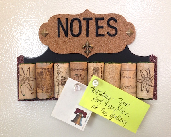 recycled wine cork note board