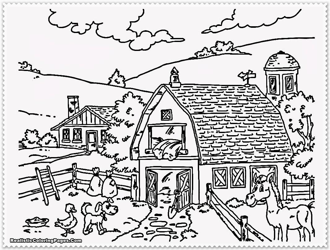 farm bauernhof ausmalbild  cartoonbild