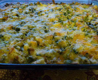 Cheesy Brussels Sprout Bread Pudding