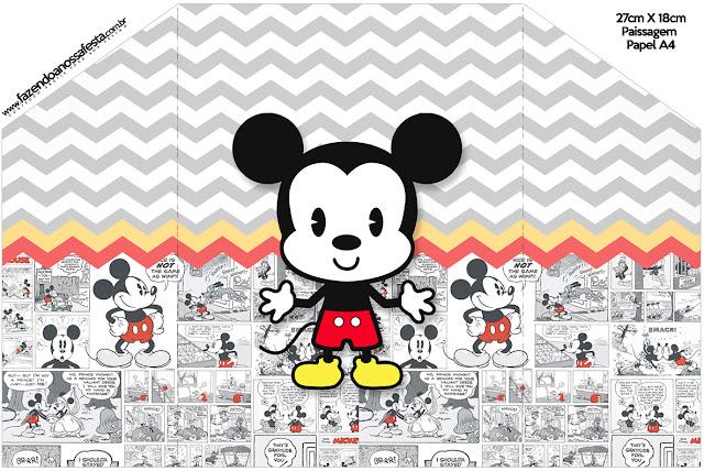 Mickey Vintage Bebé: Invitaciones para Imprimir Gratis.