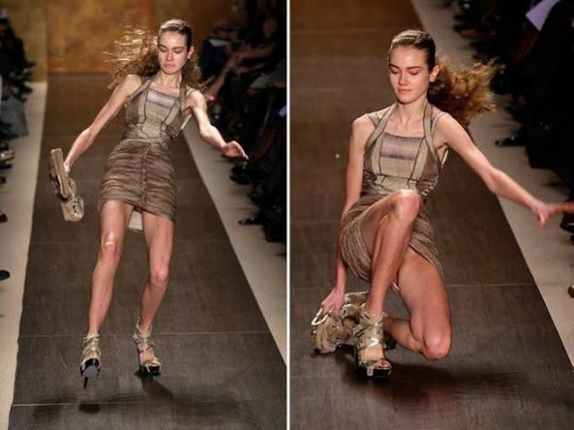 """صور وفيديو تجعل كل فتاة تفكر في أن تكون عارضة أزياء تتراجع عن ذلك الصورة السادسة ينطبق عليها مثل: """"شر البلية ما يضحك"""""""