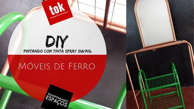 DIY Decor | Repaginando minha penteadeira e móvel de apoio com tinta spray