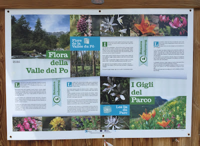 Sign showing Flora of the Valle del Po