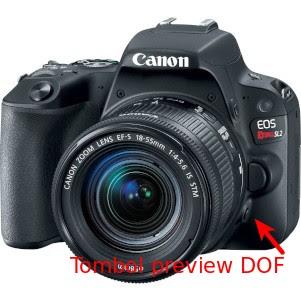 Cara pakai tombol preview DOF pada kamera DSLR