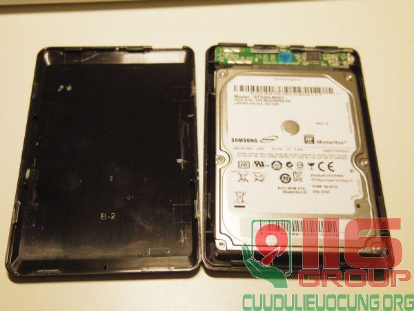 Cứu dữ liệu HDD BOX samsung cắm ngoài không nhận
