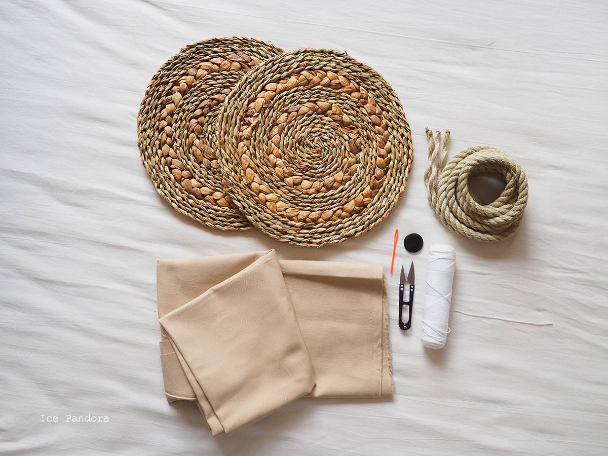 Diy Round Straw Bag