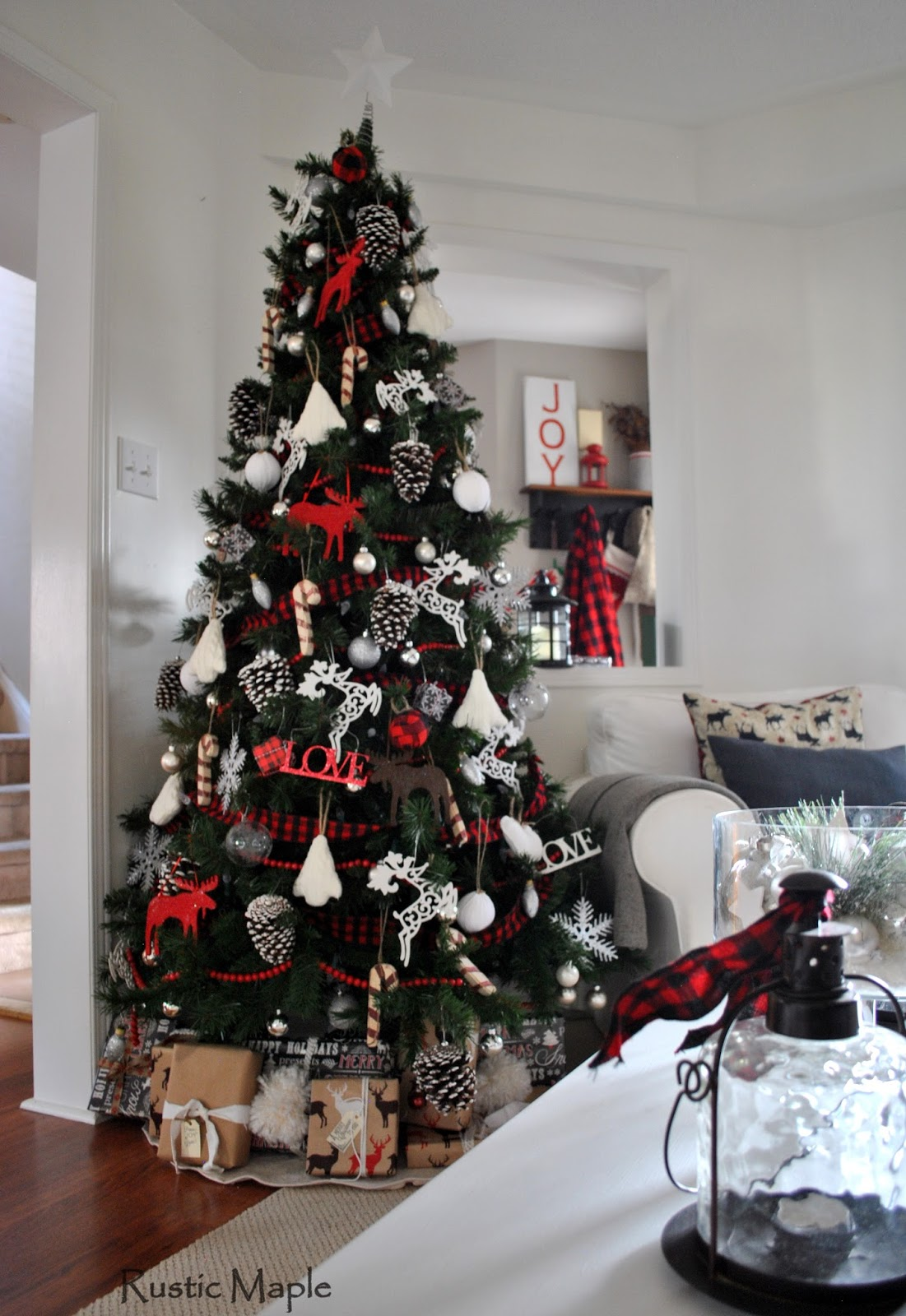 Rustic Maple Our Rustic Christmas Living Room 2015