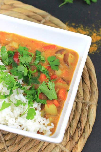 Vegan Coconut Curried Vegetables