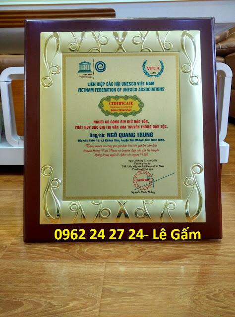 cơ sở bán biểu trưng gỗ đồng, địa chỉ sản xuất bằng khen nhân viên, bằng chứng nhận cao cấp - 260093