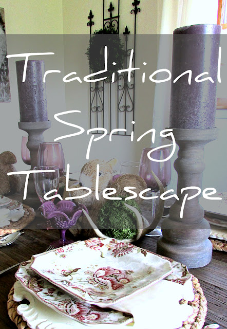 Timeless and Traditional Spring Tablescape @ Rustic-refined.com