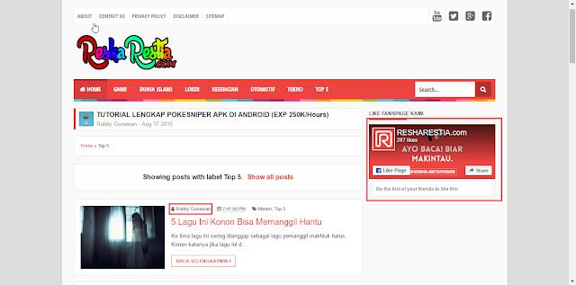 resharestia.com blog pencuri makintau.com