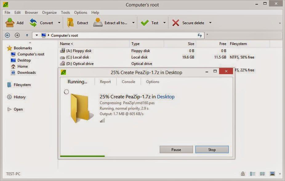 تحميل برنامج PeaZip لضغط وفك ضغط الملفات | تحميل برامج كمبيوتر مجانية