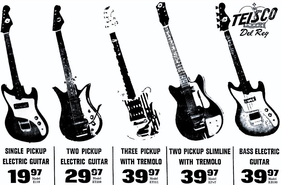 the unique guitar blog  teisco guitars