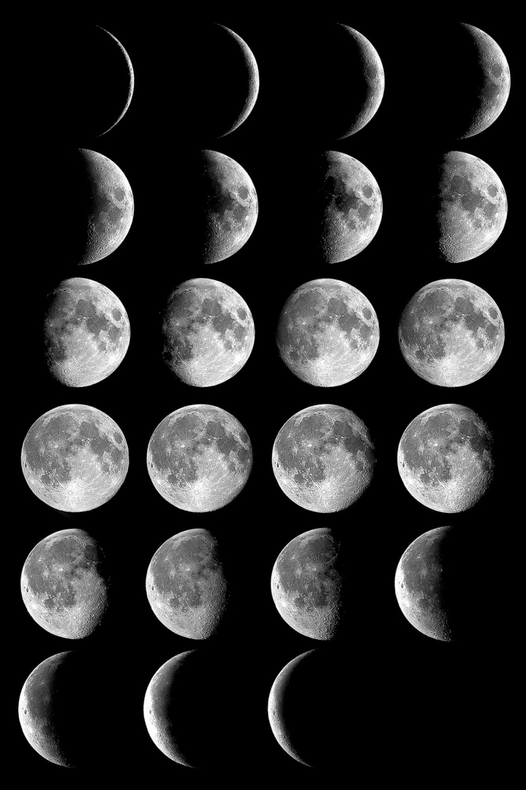 moon phases around the earth - photo #37