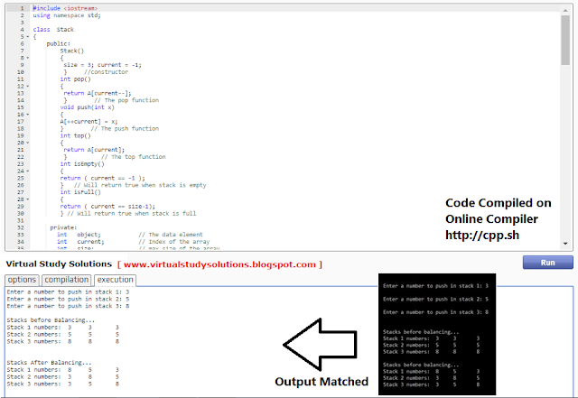 CS301 Solution Code output Sample Preview
