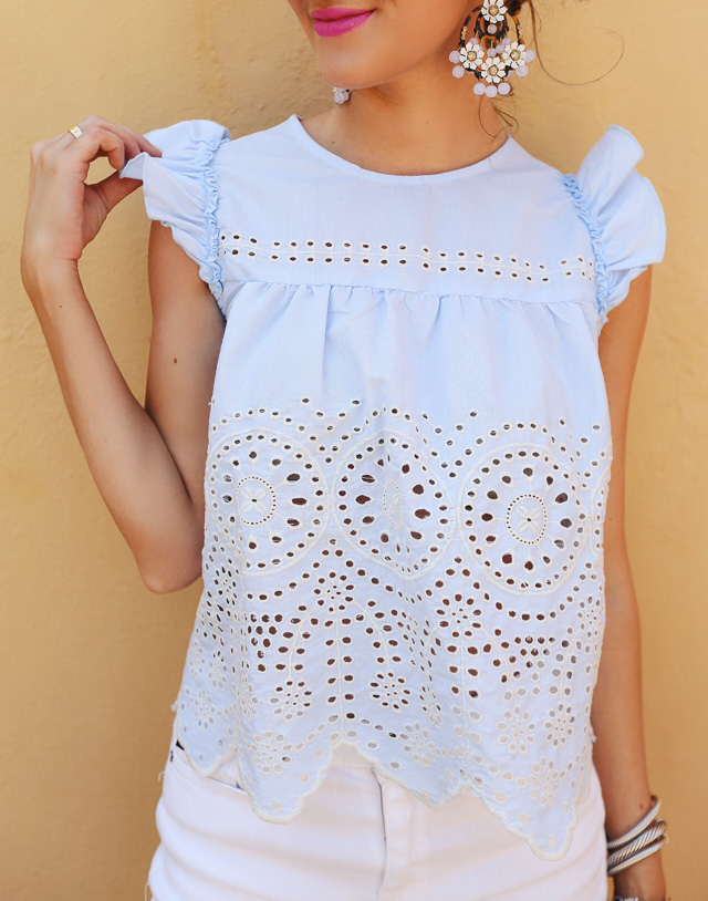 love this eyelet top