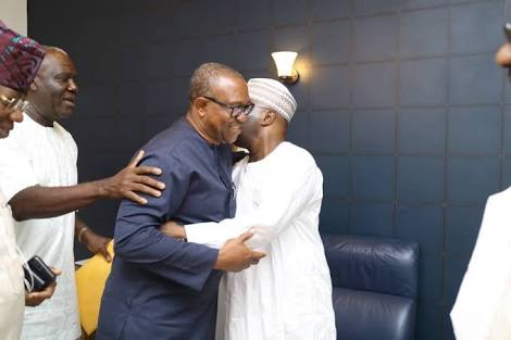 Atiku hugs Peter Obi after Meeting Him for VP (Pics & Profile)
