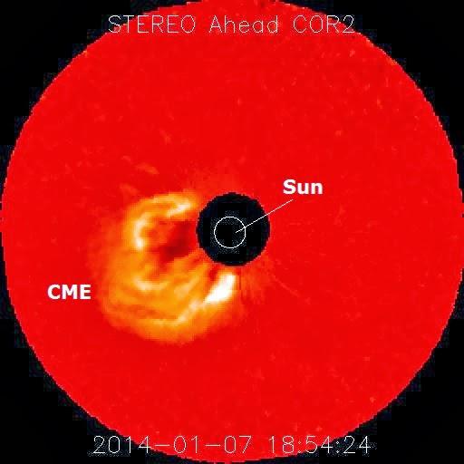 LLAMARADA SOLAR CLASE X1.2, 07 DE ENERO 2014