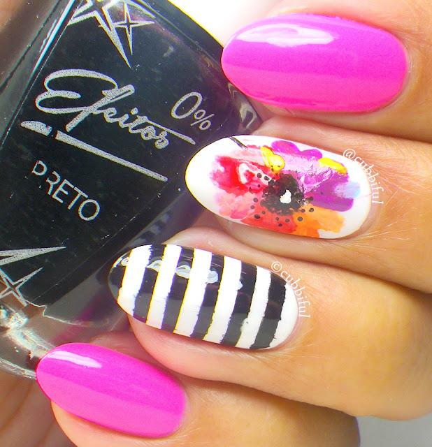 Watercolor Floral Nails