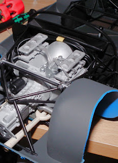 Engine & subframe mounted in Porsche 910