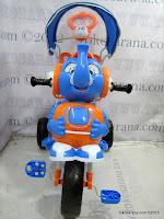 3 Sepeda Roda Tiga Wimcycle Elephant dengan Musik dan Kanopi