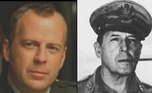 Bruce Willis, and General Douglas MacArthur, who took part in World War II