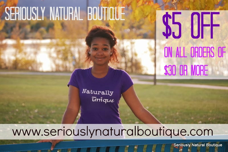 $5 Off $30 At Seriously Natural Boutique!!