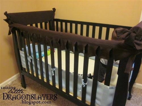 Raising Little Dragonslayers Diy No Sew Crib Rail Chew
