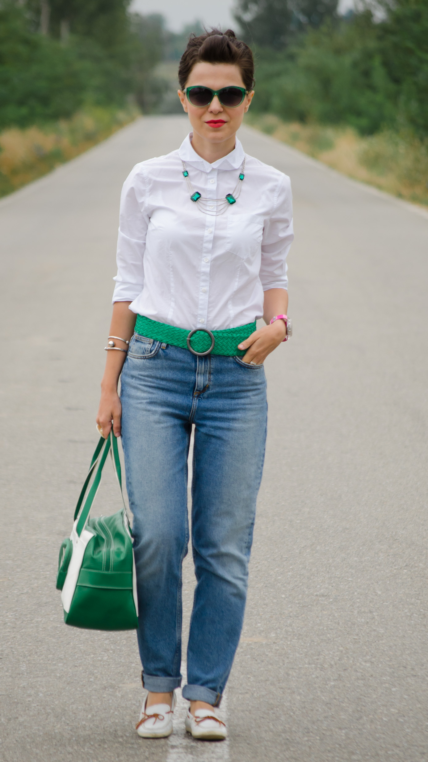 7948107752c4 Green Shirt And Jeans Outfit - raveitsafe
