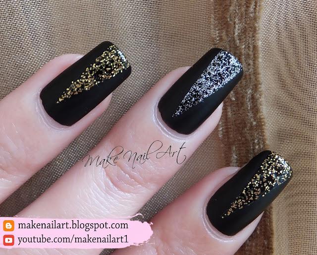 Prom Nails Black Matte