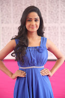 Divya Nandini stunning Beauty in blue Dress at Trendz Exhibition Launch ~  Celebrities Galleries 058.JPG