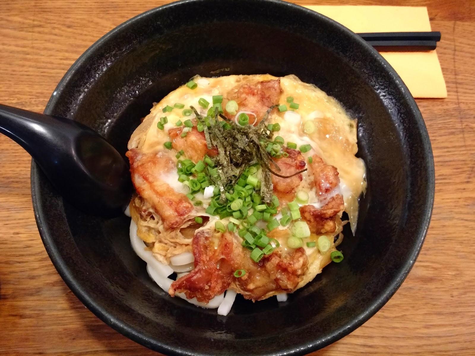 Le Chameau bleu - Udon et Omelette au poulet frit du restaurant Sanukiya Paris