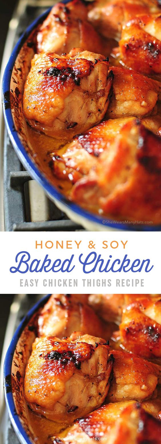 HONEY SOY BAKED CHICKEN THIGHS RECIPE