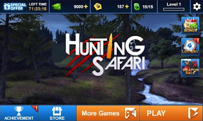Download Hunting Safari 3D MOD APK v1.1 Terbaru Unlimited Money