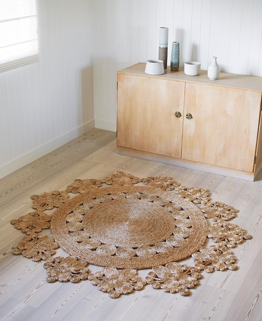 o trouver un tapis en jute boh me. Black Bedroom Furniture Sets. Home Design Ideas