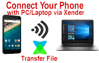 Connect phone with pc laptop via xender and transfer file