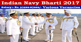 Indian Navy Recruitment 2017 for the post of Sailor For SSR