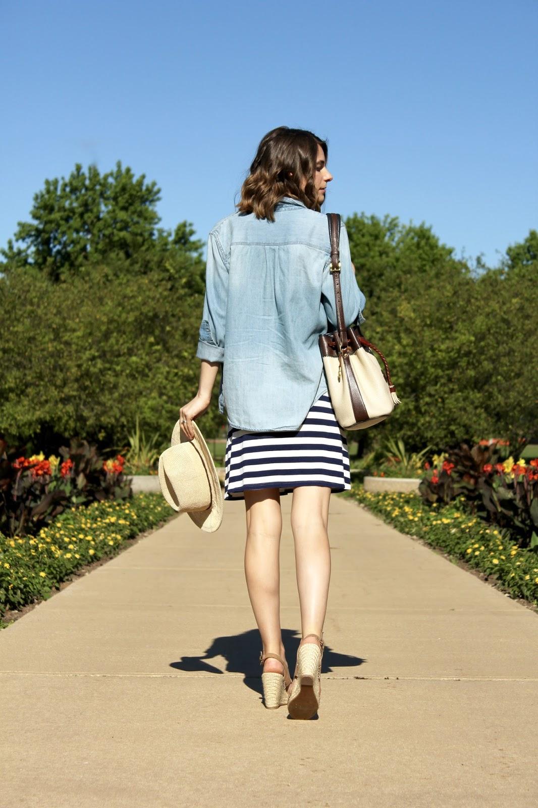 Target Blue Striped T-Shirt Dress