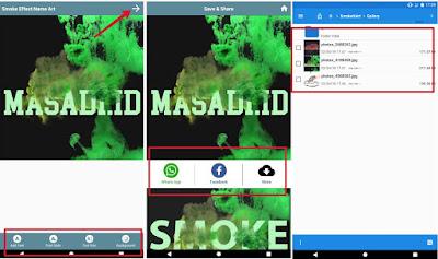 cara Menggunakan Aplikasi Smoke Effect Name Art