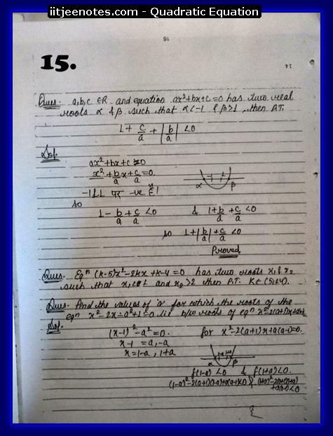quadratic equation notes cbse5